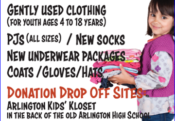 August Mission of the Month:  Arlington Kids' Kloset